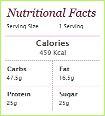 Nutritional Facts Protein Porride