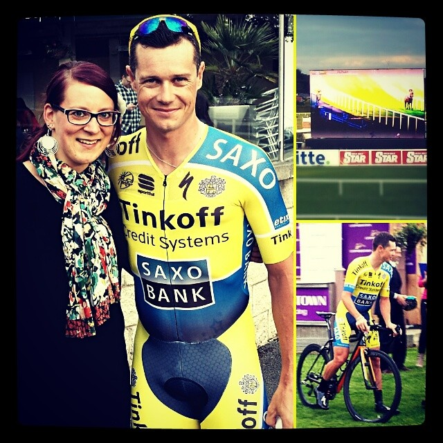 With Nicolas Roche at Leopardstown Race Course
