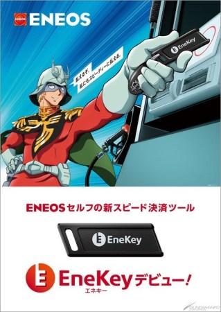 Gundam collabora con Eneos petroli