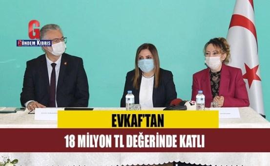 Συνεισφορά αξίας 18 εκατομμυρίων TL από την Evkaf