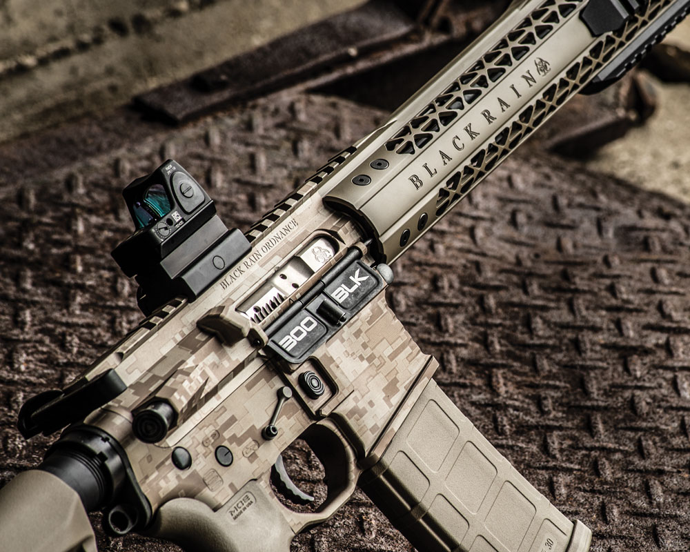 Form and function: Black Rain's .300 BLK features a nickel-boron bolt carrier and group and 12-inch mod rail. Jeff Jones