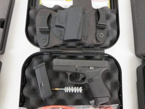 On Consignment:  Glock 42 .380 w/ Crossbreed holster, extra magazine and case $395