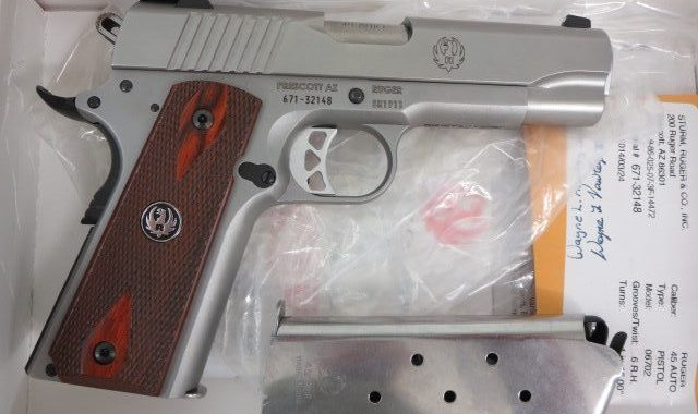 Used Ruger 1911  45 acp w/ box and extra magazine $695