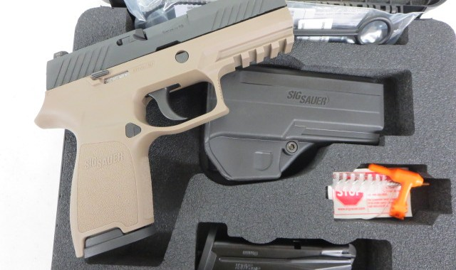 Used Sig Sauer P320 Compact 9mm w/ night sights, extra