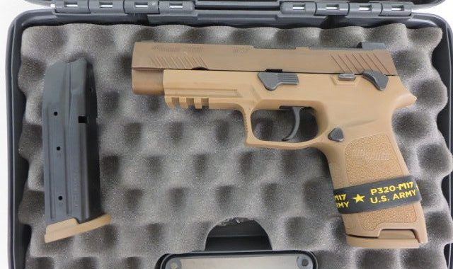 Used Sig Sauer P320 M17 9mm w/ extra magazine and case $575