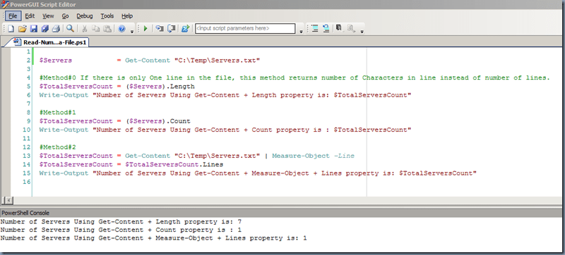 PowerShell : Finding number of lines in a File – GUNNALAG