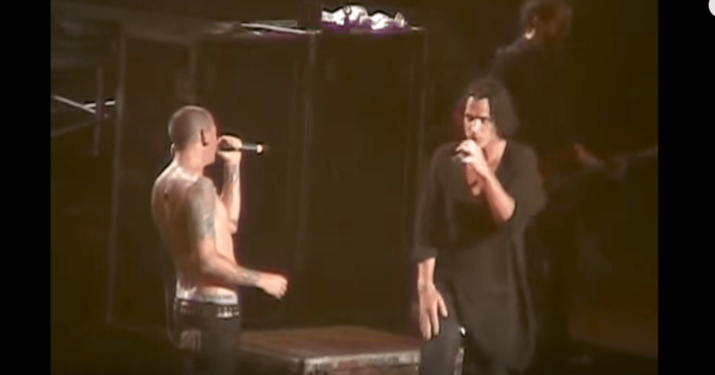 Linkin Park with Chris Cornell performing Crawling