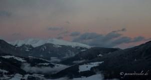 Last remnants of the Alpenglühen