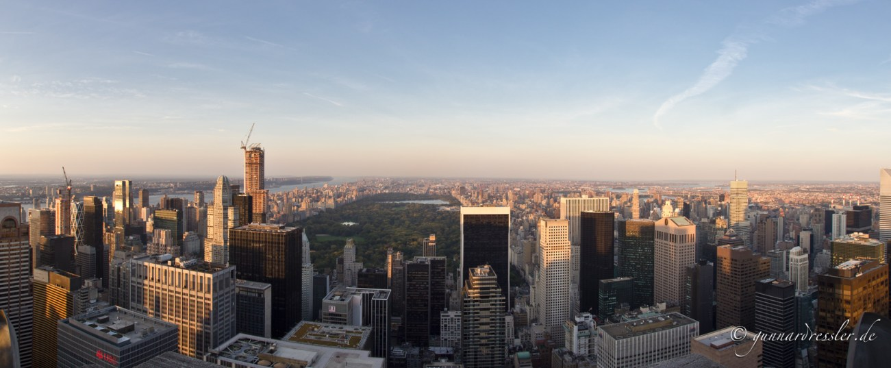 View from Rockefeller Center to Central Park
