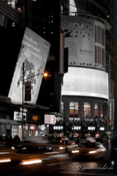 Cabs at Times Square