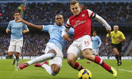 Jack Wilshere Arsenal Fernandino Manchester City