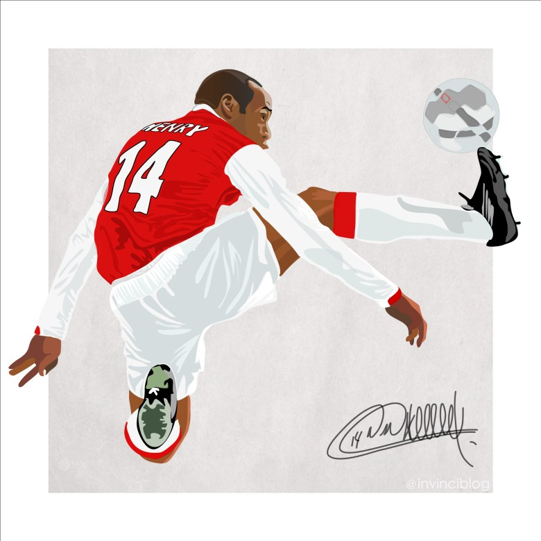 Portrait of Thierry Henry by @invinciblog