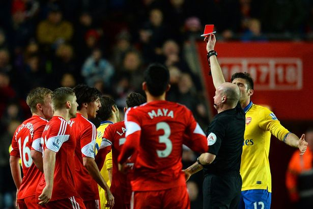 Flamini red card Southamtpon