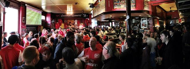 Gunners Pub frenzy