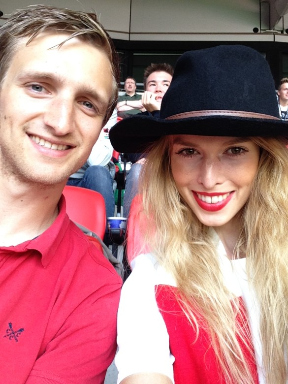 Gooner Girlfriend and Gooner Boyfriend at Wembley for CS