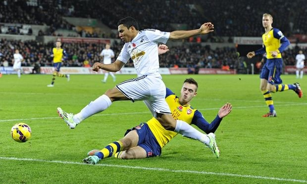 Montero had Chambers in his back posket all game. [Image: The Guardian}
