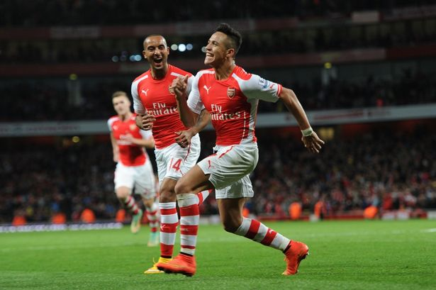 Theo and Sanchez will break through the lines...