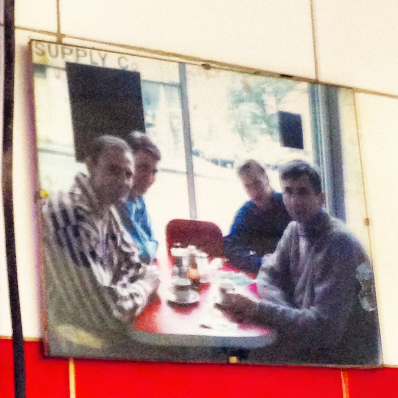 Pre Social Fish and Chips in the Arsenal Fish bar on Blackstock rd N5