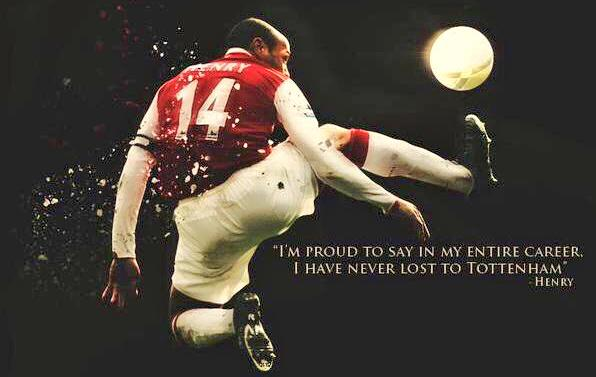 Never lost to Tottenham
