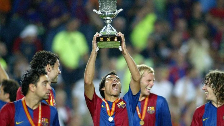 One of the many trophies Gio won with Barca...