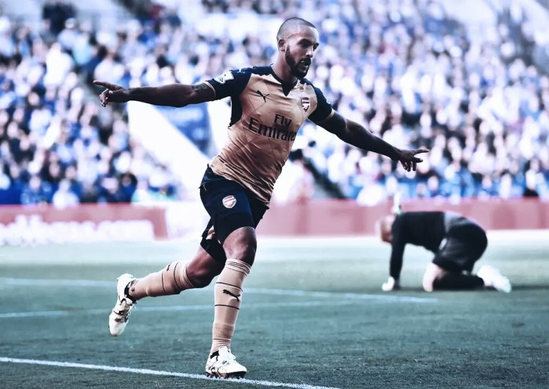 Theo celebrates a crucial goal