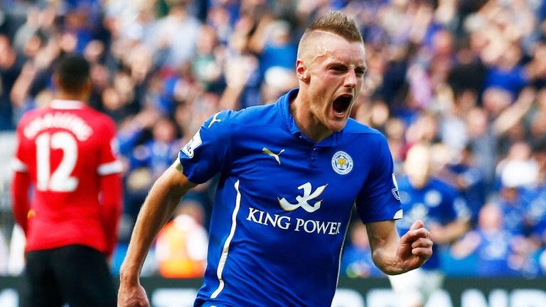 Leicester's speedster Jamie Vardy