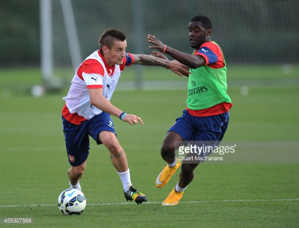 Campbell and Debuchy - Hard to make an instant impact (Thanks to Getty Images)