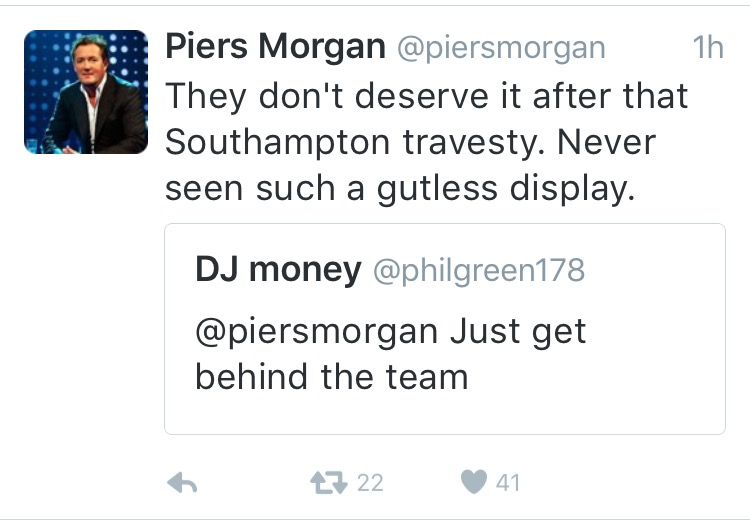 Piers Morgan tweet 1