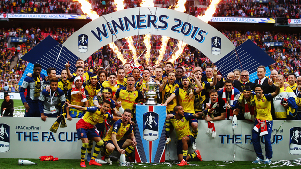 Arsenal Celebrate their 12th FA Cup in May (thanks Getty Images)