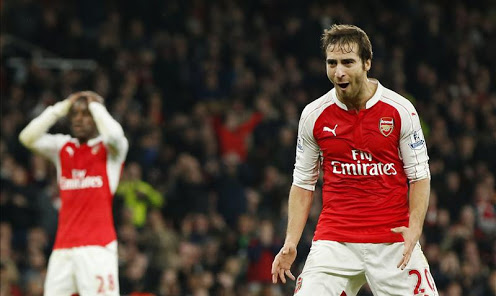 Though he's given his very best - Flamini is unable to successfully deputize for Coquelin