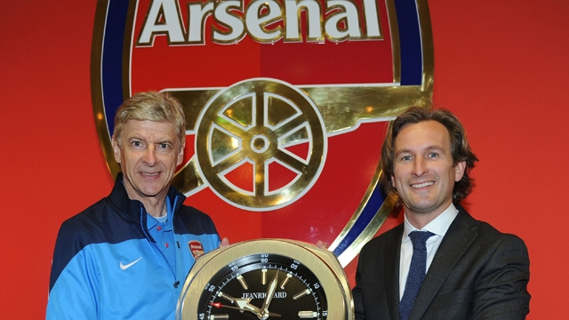 Wenger posing for 'Brand Arsenal'
