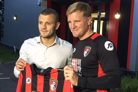 Jack Wilshire and Eddie Howe