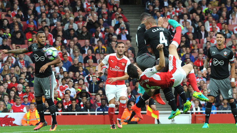 Koscielny was one of Arsenal's key players in the win against the saints