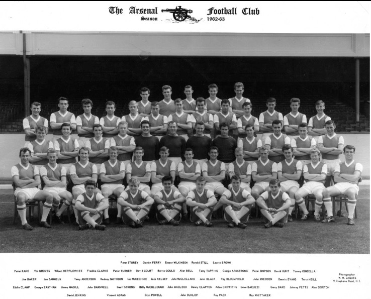 Arsenal team photo from 1962-63