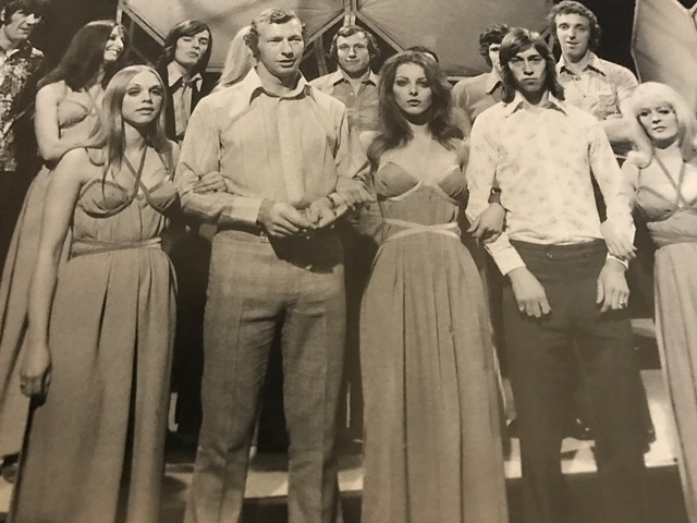 The Arsenal players with Pans People on Top of the Pops