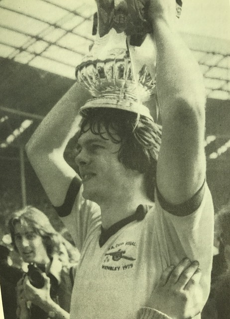 David with the FA Cup in 1979