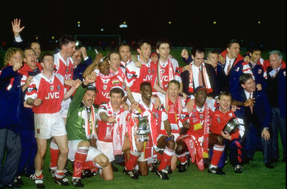Smudger with the rest of our victorious 1993 FA Cup winning side