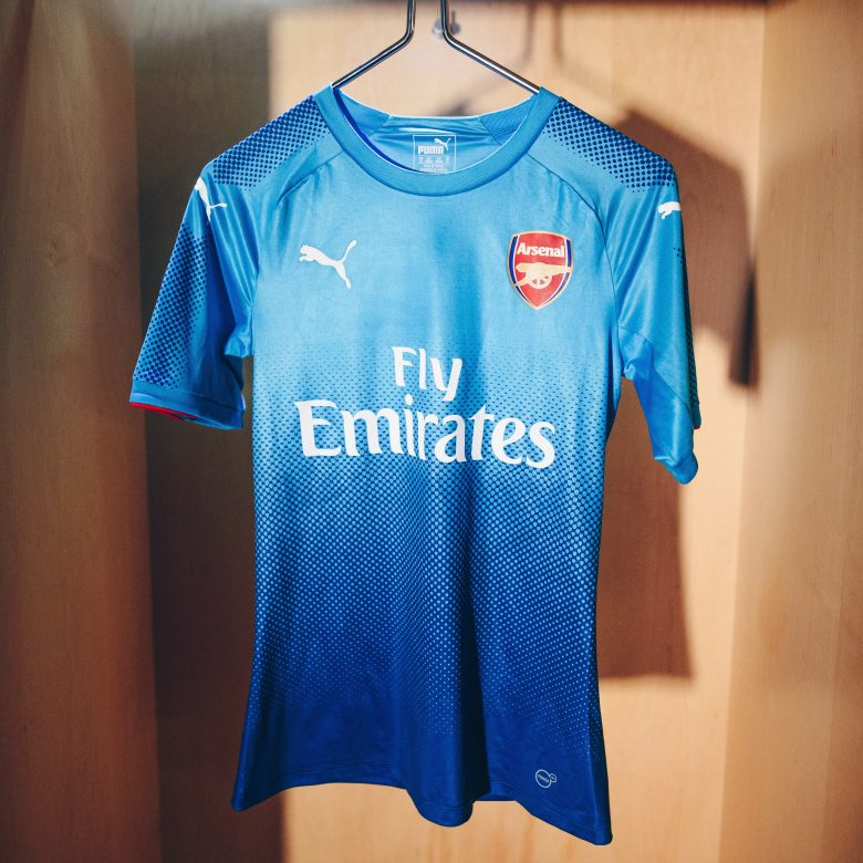 ad2461fe0 Puma unveils Arsenal 2017 18 Away Kit  guess who s wearing it ...