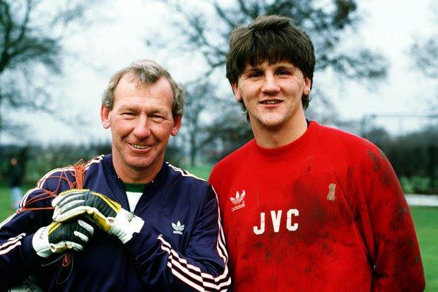 John with his coach Bob Wilson