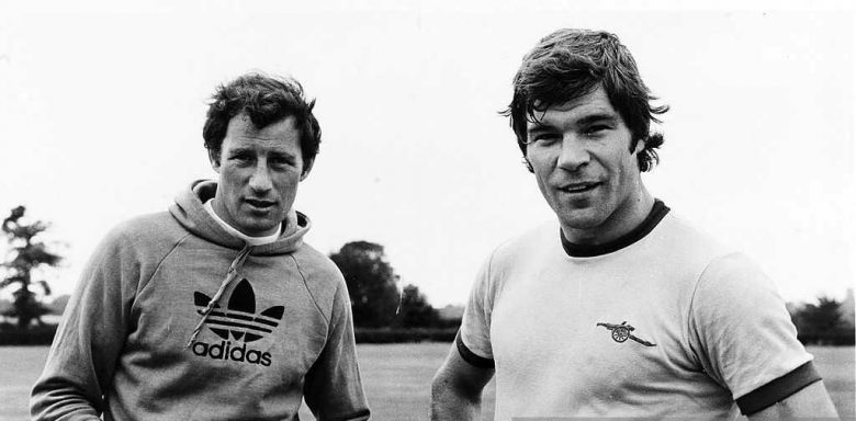 Supermac with manager Terry Neill