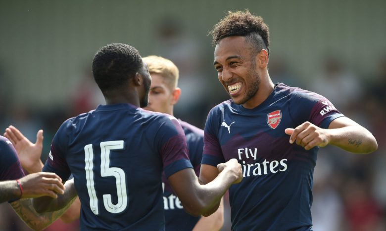 Aubameyang bagged a hattrick in a pre-season friendly against Boreham Wood