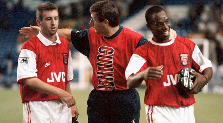 Happier times; Winterburn, Rioch and Wright