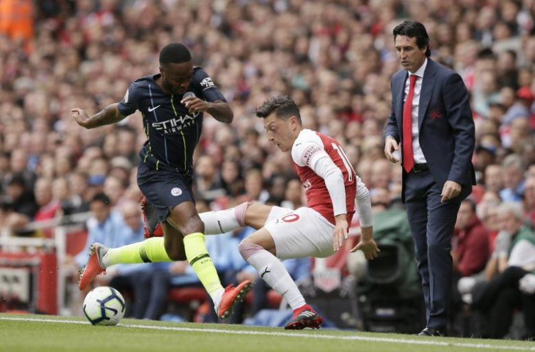 Ozil was targeted by Guardiola
