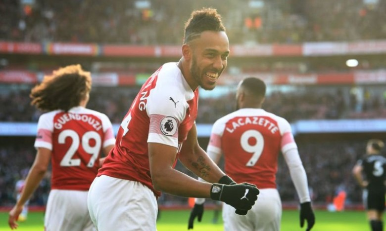 Aubameyang-celeb-Arsenal-vs-Burnley
