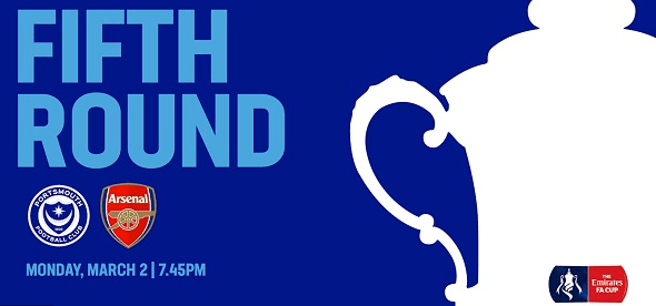 FA Cup 5th Round Portsmouth v Arsenal