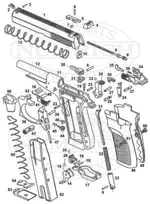 82 Pistol Schematic   Numrich