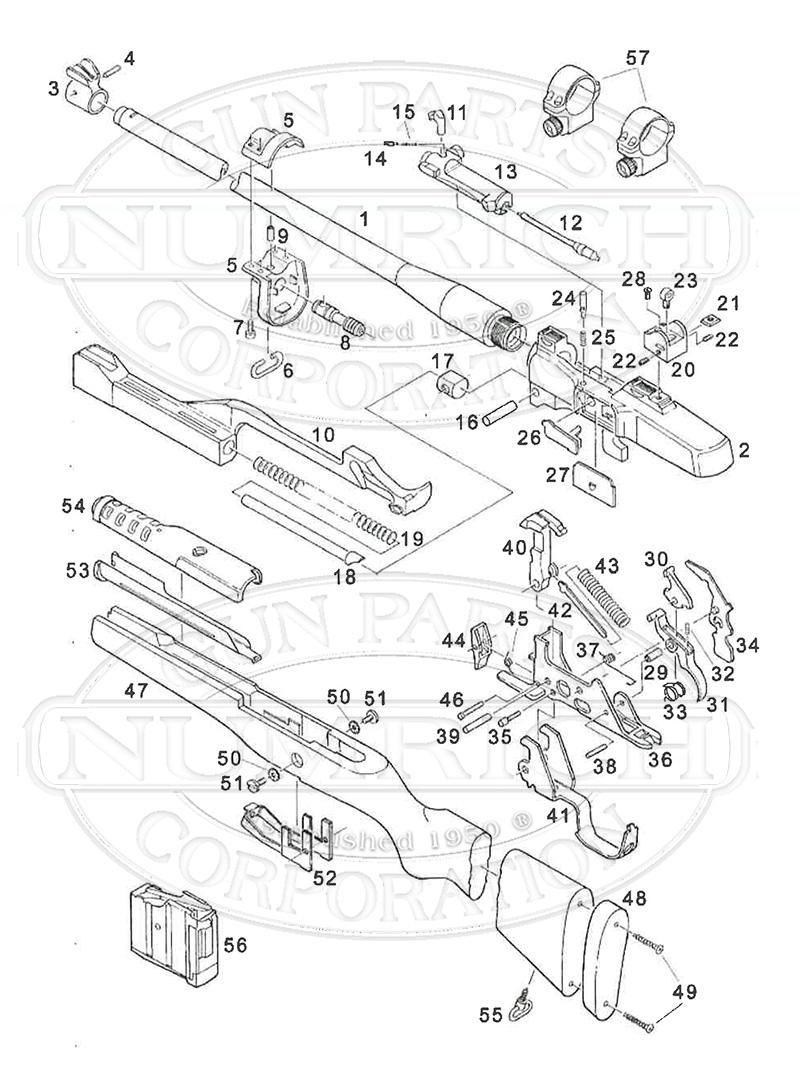 Mini 14 ranch rifle 580 series schematic numrich rh gunpartscorp ruger mini 14 parts manual