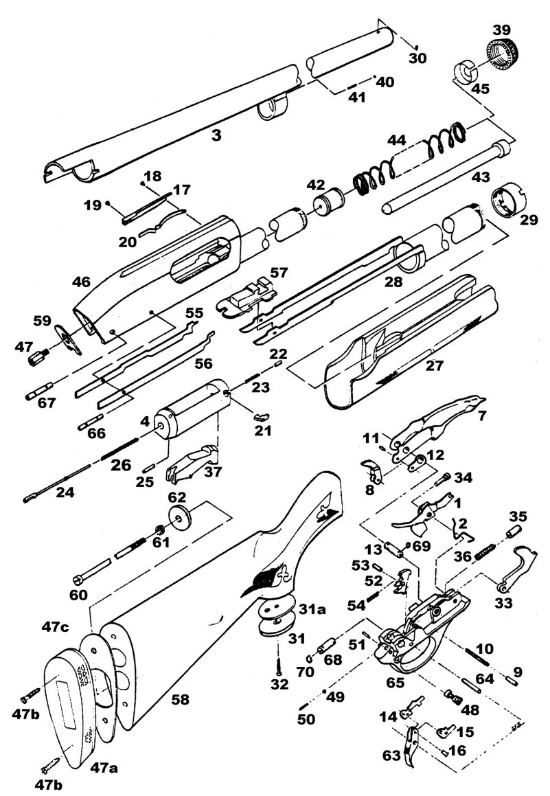 remington 870 express parts diagram
