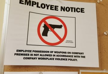 No Guns for Employees