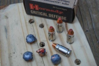 Not many 9mm loads would expand like this after passing through a pine board.
